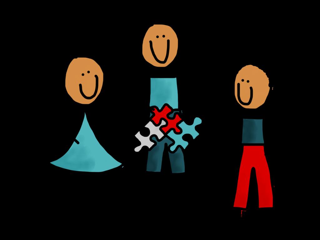 Trots team werkt samen