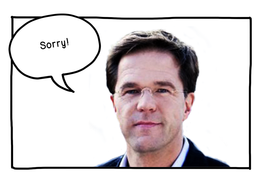 Rutte sorry